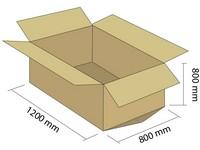 Karton klapowy 5W 1200x800x800 mm (pak. 10 szt)