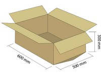 Karton klapowy 5W 600x500x300 mm