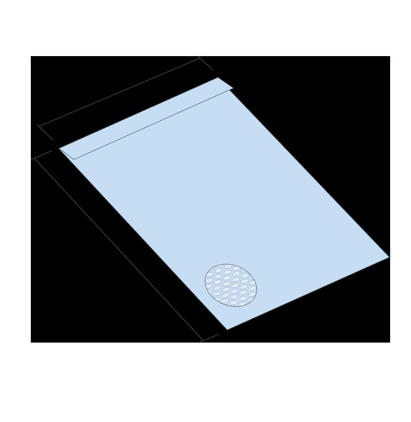 Koperta bąbelkowa 18/H (265x360 mm). Pakowane po 100 szt.