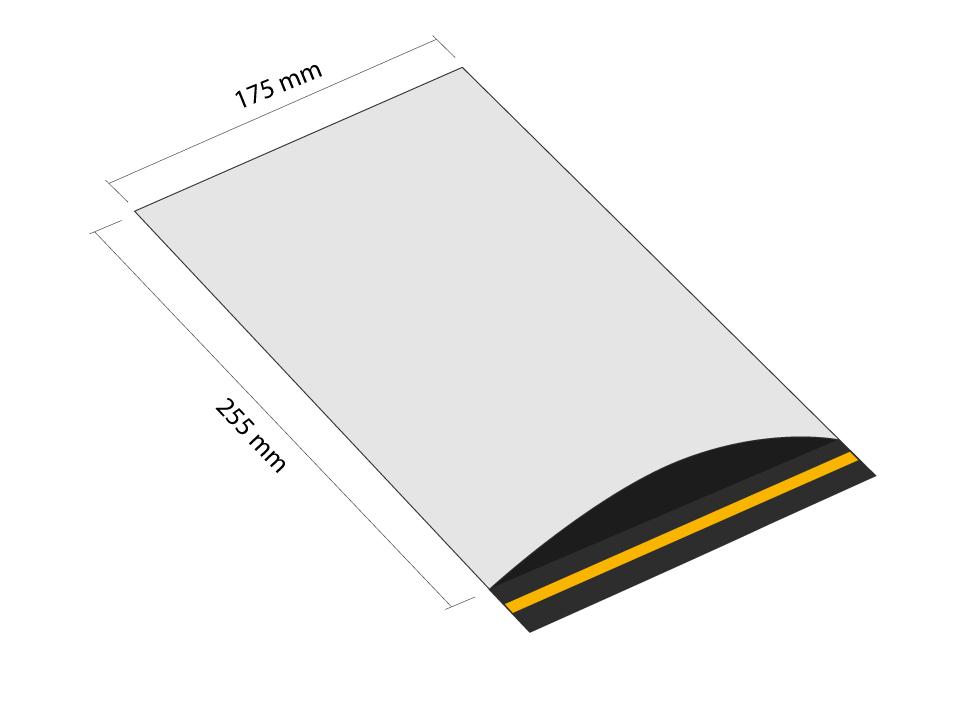 Samoprzylepna koperta plastikowa 175x255 mm z klapką (opakowanie 100 szt.)