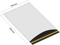 Samoprzylepna koperta plastikowa 350x450 mm z klapką (opakowanie 100 szt.)