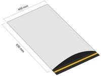 Samoprzylepna koperta plastikowa 450x650 mm z klapką (opakowanie 100 szt.)
