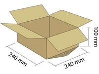 Karton klapowy 3W 240x240x100 mm