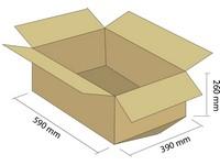 Karton klapowy T-BOX 5W 590x390x260 mm